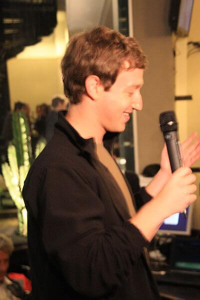 Mark Zuckerberg à Paris en 2008
